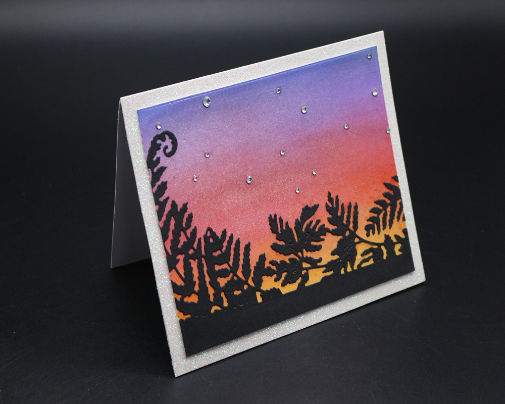 ZhuoAng Sunset landscape design cutting mold making DIY clip art album decoration embossing