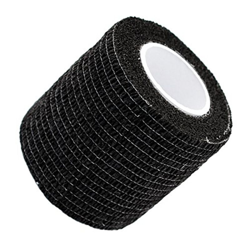 4/8/12/16/20/24pcs Black Disposable Cohesive Tattoo Grip Cover Self-Adhesive Bandages Handle Grip Tube For Tattoo Machine Grip