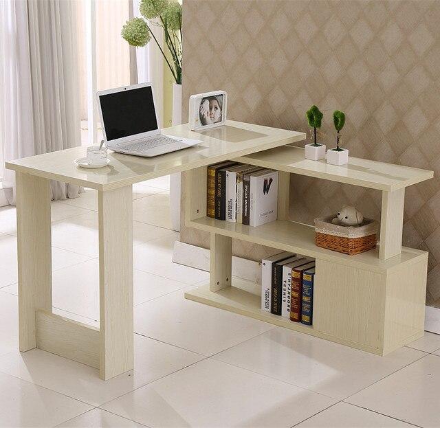 Superbe Table Rotating Desktop Computer Desk Corner Minimalist Home Study Tables