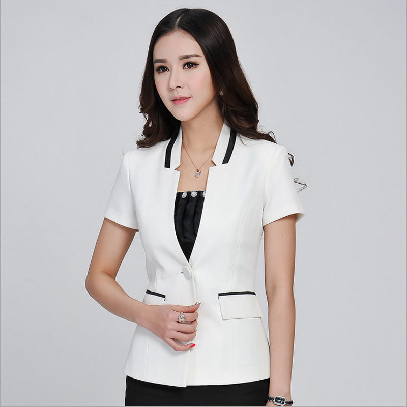 Popular Short Sleeve Suit Jackets Women-Buy Cheap Short Sleeve ...