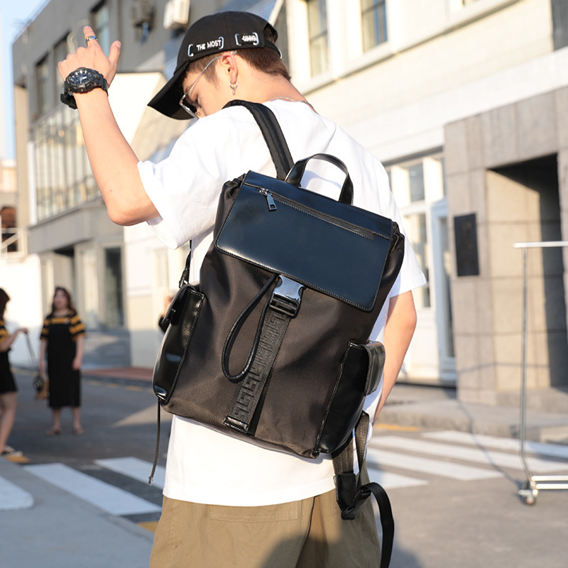 Men Backpack Male Bag Unisex for Casual Black Travel Camping Out-Door New