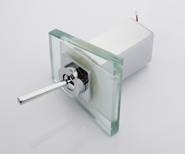 Salle de bain cascade robinet à LED salle de bain mélangeur robinet pont monté bassin évier mitigeur cascade laiton bassin robinet - 5