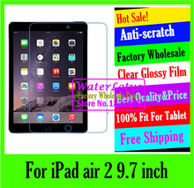 original Clear Glossy screen protector Computer projector notebook protective LCD film to plate laptop For iPad air 2 9.7 inch