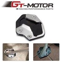 Motocicleta kickstand sidesand suporte placa de extensão almofada para triumph tiger 800 xc 2010-14 xca xr xrx xrt 2015 2016 2017