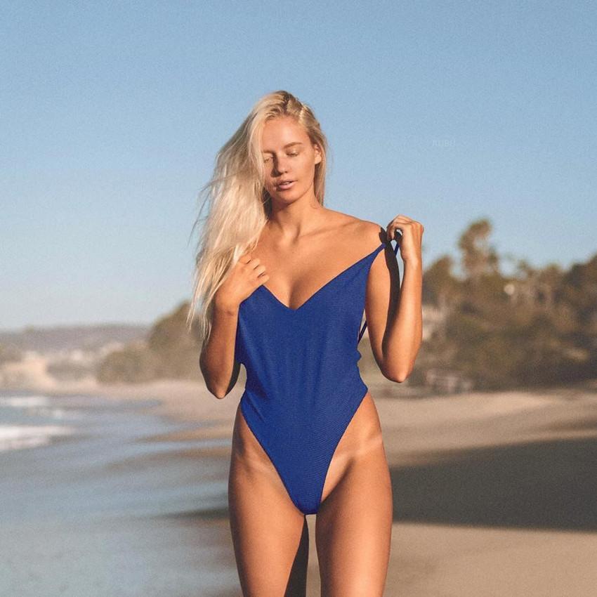 Swimming 2018 One Piece Braided Brazilian Swimwear Sexy Women Hot Bandage Braided Push Up Monokini Low Cut Swimsuit Online Shop Sports & Entertainment