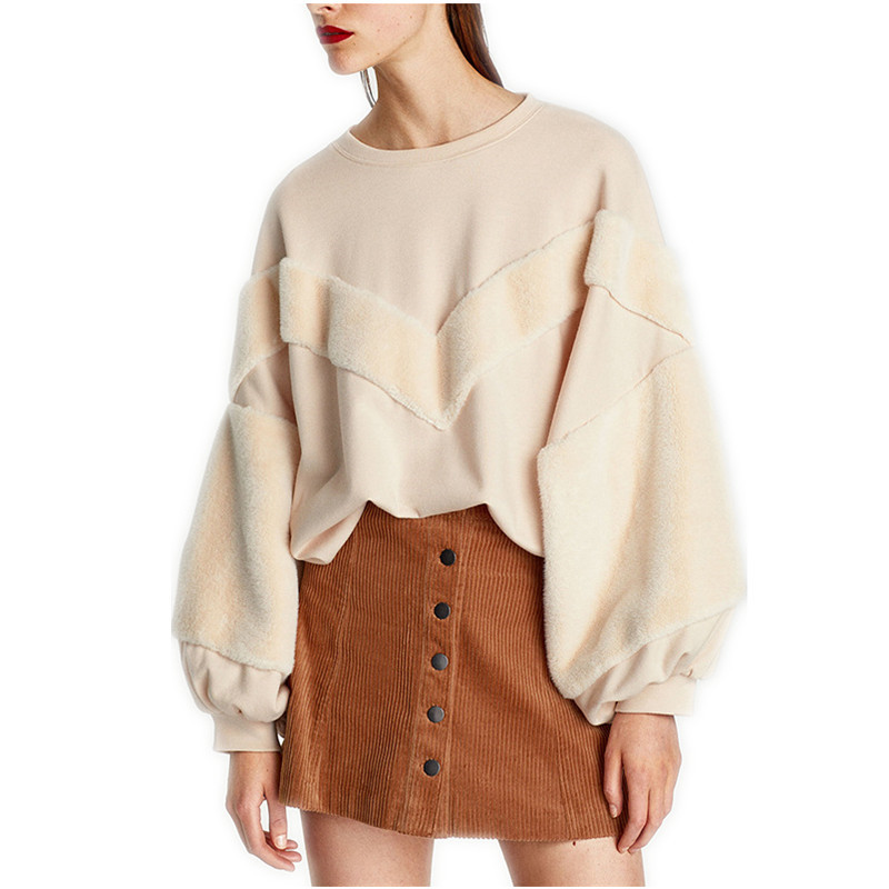 Fashion Designer Faux Fur Oversized Sweater 2018 High quality Women Winter Warm Runway Sweater Jumpers pull femme Pullovers