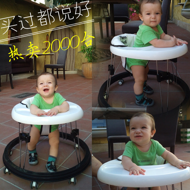 2016 Hot sale baby stroller belt dining chair table Baby Walker with wheels free shipping