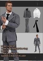 1/6 Male Grey Suit Clothes Set Model for 12''Bodies Accessories