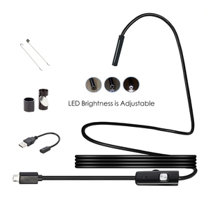 Image 3 - Endoscope USB Android Endoscope Camera Waterproof Inspection Borescope Flexible Camera 5.5mm 7mm for Android PC Notebook 6LED