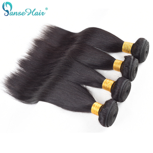 Peruvian Hair Straight Panse Hair weaving Non-Remy Human Hair 4 Bundles Per Lot Customized 8-30 Inches Factory Direct Sale