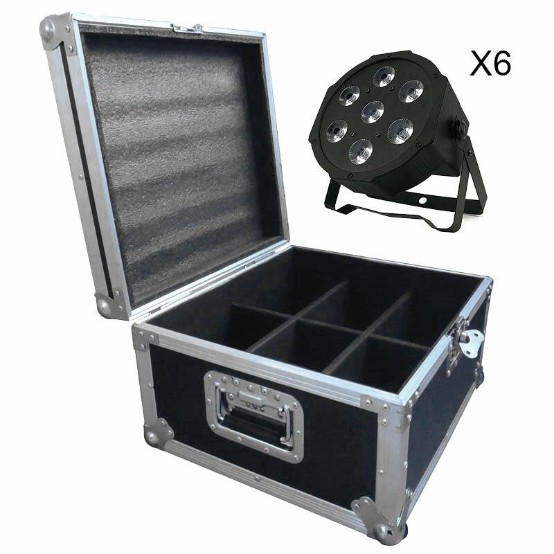 Flight Case With 6/8/10/12/16 Pieces LED Flat Par 7x3W White Color Lighting LED Light For Disco KTV Party Dmx Dj Stage Lighting цены