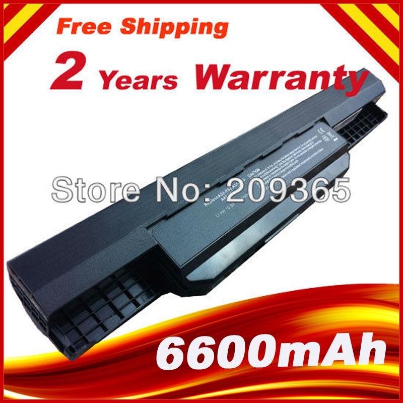 7800 mah 9 cellules pour ordinateur portable batterie pour asus k53s k53 k53e k43e K53 K53T K43S X43E X43S X43E K43T K43U A53E A53S K53S batterie