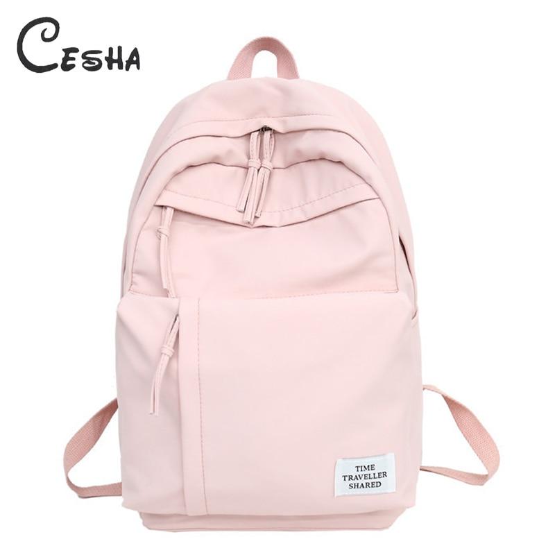 CESHA Pretty Style Light Nylon Women Travel Backpack High Quality Waterproof Nylon School Backpack Girls School Bag for Teenager