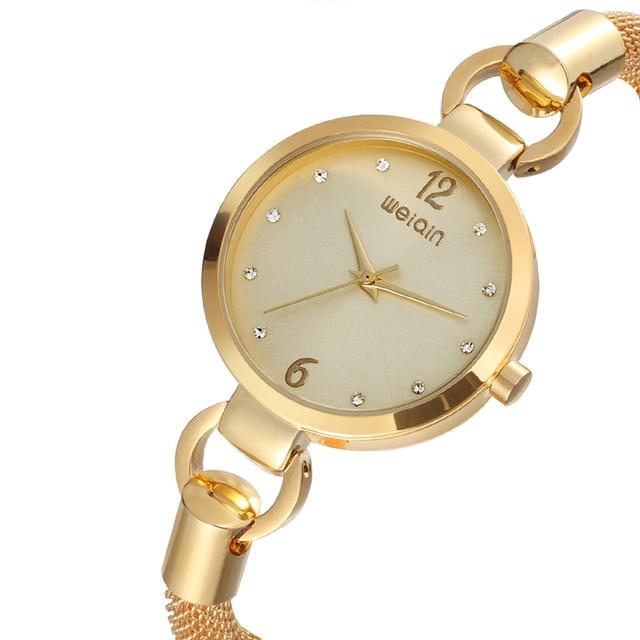 Fashion Women Watch WEIQIN Luxury Diamond Quartz Bracelet Watch Waterproof Stain