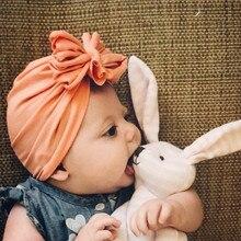2019 Primavera Verano niños boho turbante arco sombrero bebé novia gorras  niño niñas princesa niños sombreros de bebé Beanie som. 25b82e2fe1a