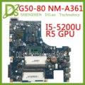 KEFU NM-A361 материнская плата для Lenovo G50-80 материнская плата для ноутбука G50-80 ACLU3/ACLU4 NM-A361 I5-5200U R5 GPU Оригинал 100% протестирован
