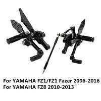 FZ1/FZ1 Fazer 2006 2016 FZ8 2010 2013 Aluminum Alloy Motorcycle Foot Rests Rear Set Adjustable Foot Pegs Rearset For Yamaha