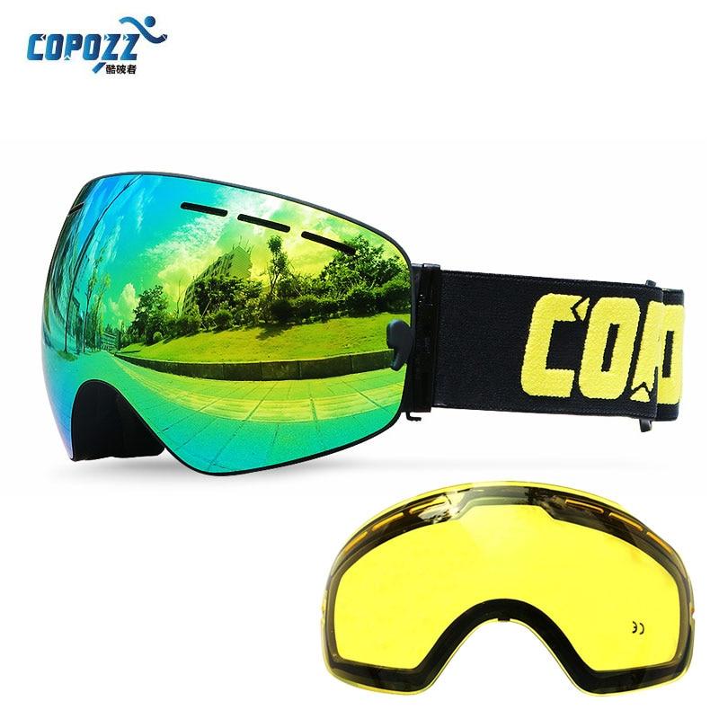 COPOZZ Brand Ski Goggles Ski Goggles Double Lens UV400 Anti-fog Adult Snowboard Skiing Glasses Women Men Snow Eyewear