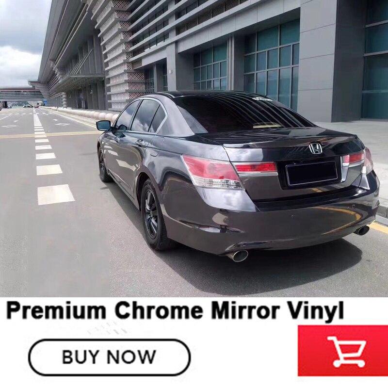 Très extensible Chrome Miroir Vinyle Wrap Film pour la voiture feuille avec Bulle d'air colle À L'importation chrome miroir en acier de tungstène noir - 2