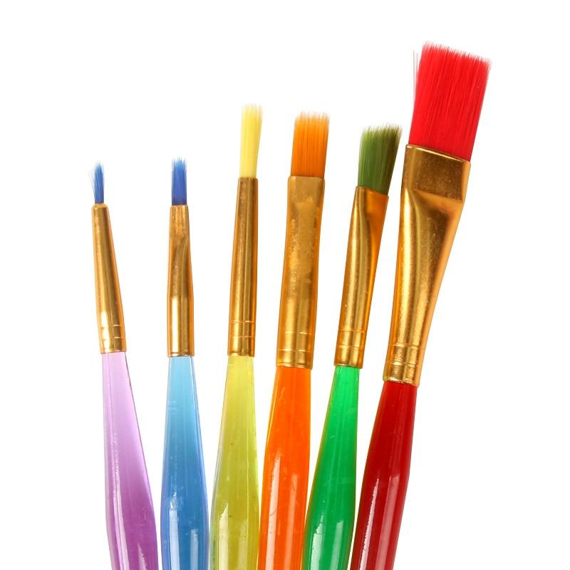 Buy 6pcs set children kindergarten brush for Wholesale craft paint brushes