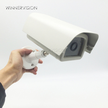 Indoor Outdoor Aluminium Haus CCTV Kamera Gehäuse Schützen Fall mit ABS Braket Kunststoff Halterung für Video Überwachung Kameras