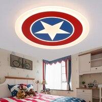 Mode de bande dessinée enfants chambre lumière garçon super mince personnalité chambre d'aspiration acrylique plafond U. S. capitaine bouclier