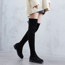 2019 New Fashion Women Boots Black/Gray Over the Knee Boots Thigh High Boots Long Boots Spring/Autumn Lady Shoes Woman Footwear