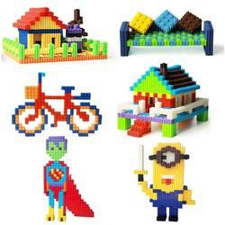 Строительные детские игрушки DIY головоломки Обучающие
