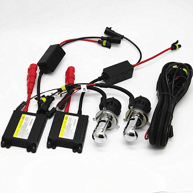 12V 55W H4 Bi xenon lamp kit H4 hid hi low BI Xenon light haedlight 55W