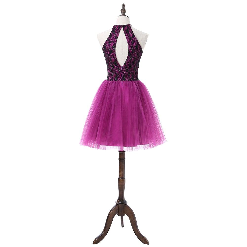 Lujo Púrpura Abiertas Vestidos De Fiesta De Espalda Ideas Ornamento ...
