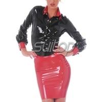Suitop latex fetish Babydolls sexy mini skirt latex hot girl mini skirt