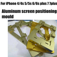 1pcs Aluminum screen positioning fixture repair tools parts for iphone 6s 6G 6 plus 7 7 plus 5 5s 4 4s Glass screen mold mould
