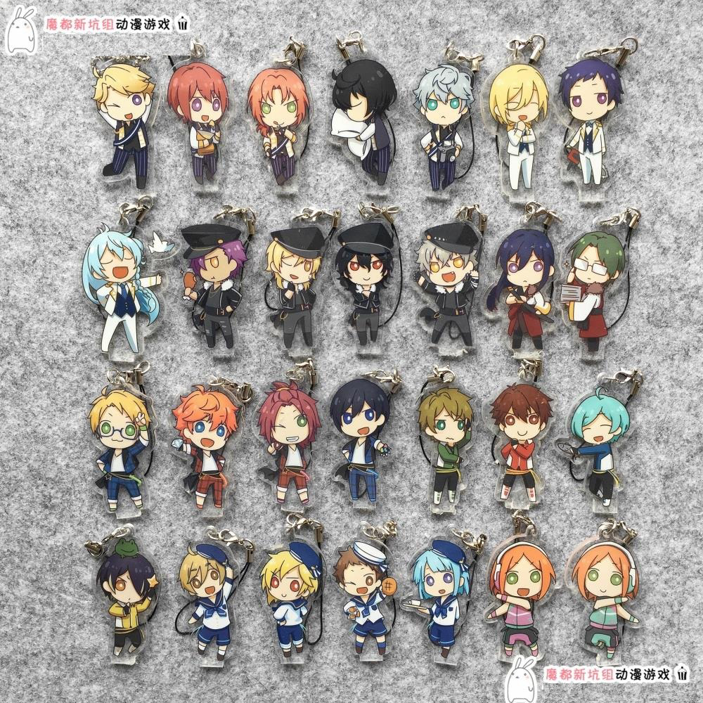 Ensemble Stars Anime Idol High School Game Team Trickstar Knights Fine 2wink Rabits Japanese Acrylic Keychain ensemble stars 2wink cospaly shoes anime boots custom made