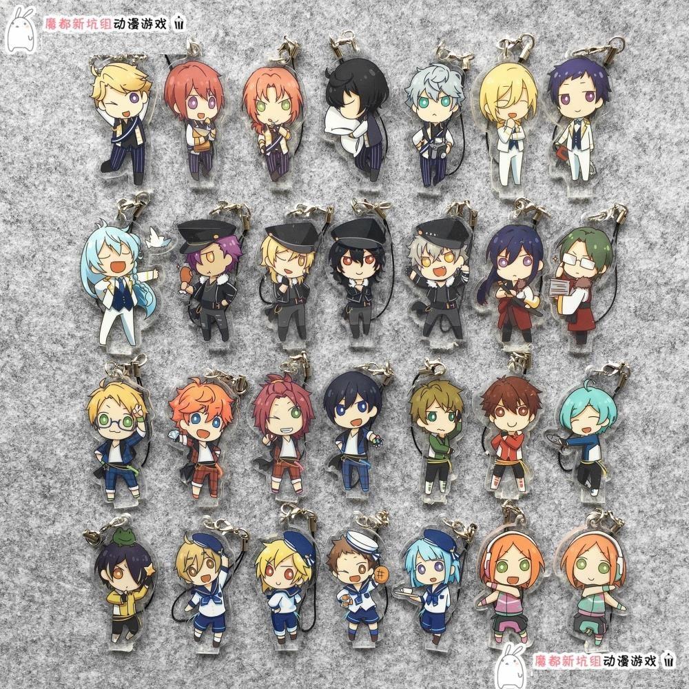 Ensemble Stars Anime Idol High School Game Team Trickstar Knights Fine 2wink Rabits Japanese Acrylic Keychain