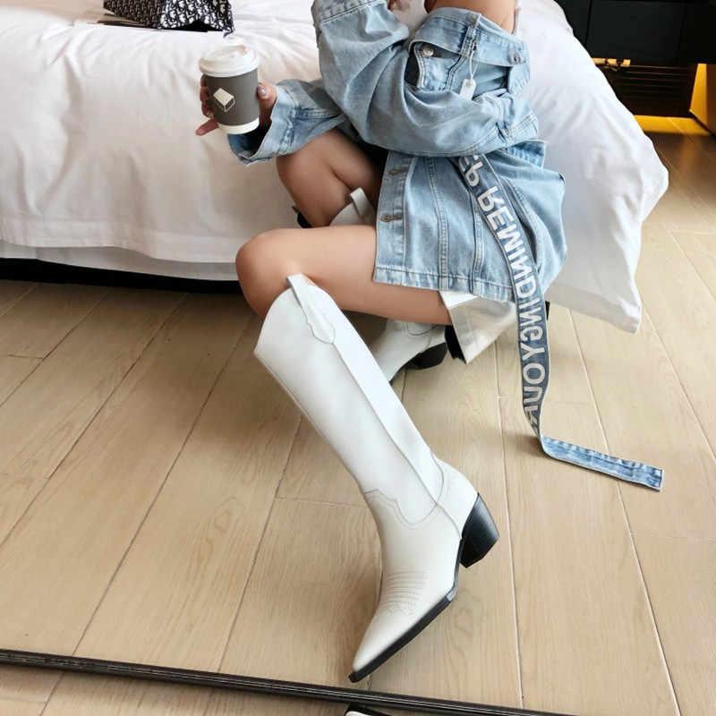 Prova Perfetto נשים קרסול מגפי הבוהן מחודדת עקבים גבוהים להחליק על בוקרי עור קאובוי מגפי נשים קצר מגפיים