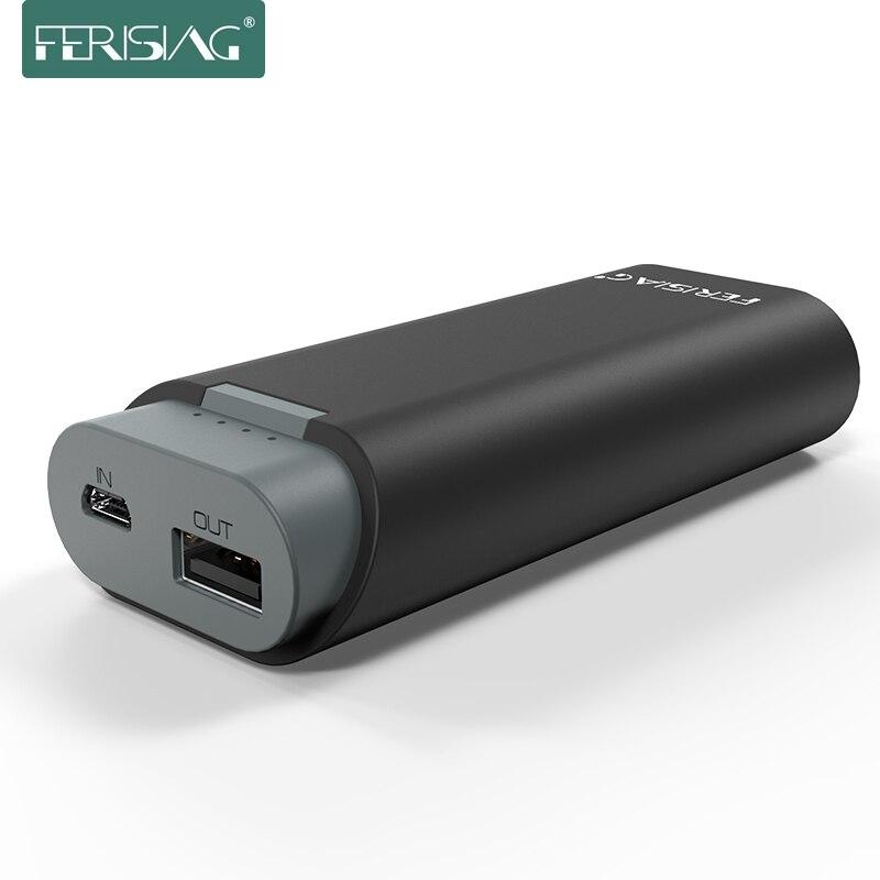 bilder für FERISING Power 5200 mAh 18650 energienbank Bewegliche Externe Batterie Bank Universal-handy-ladegerät für Handys Tabletten
