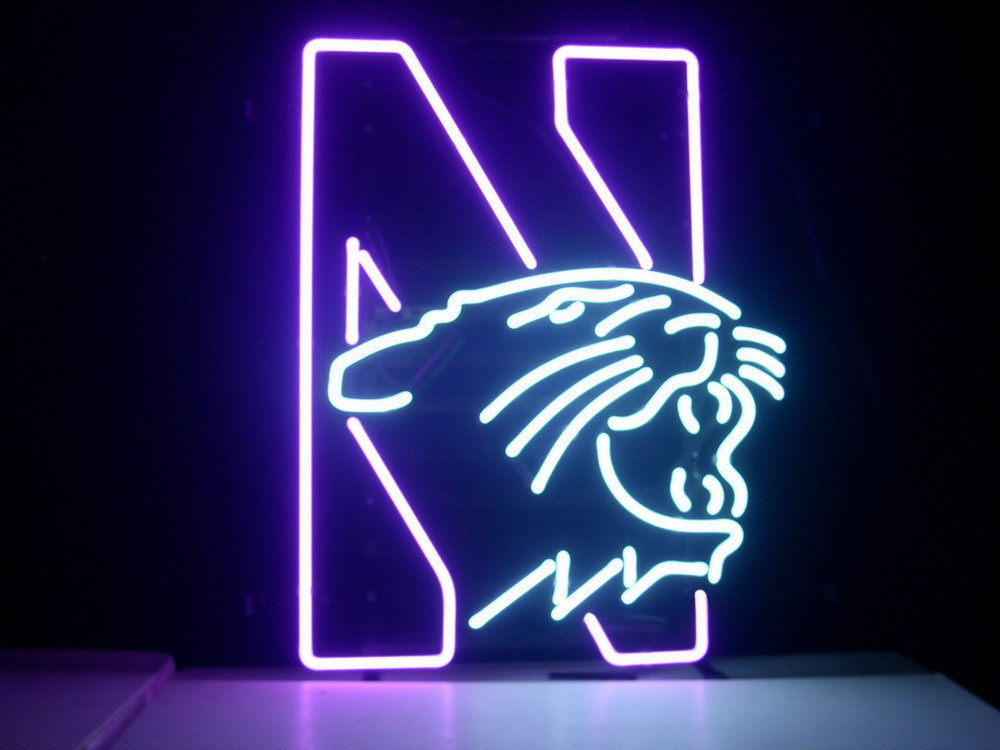 Business NEON SIGN board For  NORTHWESTERN UNIVERSITY WILDCATS REAL GLASS Tube BEER BAR PUB Club Shop Light Signs 17*14 custom signage neon signs pizza beer real glass tube bar pub signboard display decorate store shop light sign 17 14