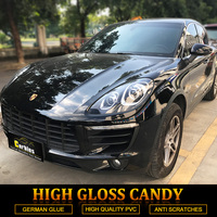 Carbins High Gloss Black Vinyl Car Full Body Wrap Foil Premium Wraps