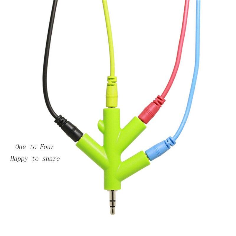 Zubehör Und Ersatzteile Unterhaltungselektronik ZuverläSsig 3,5mm 4 2-wege-port Aux Multi Kopfhörer Kopfhörer Audio Splitter Blei Adapter Konverter 1 Männlich 2 3 4 Weibliche Kabel 5 Farben