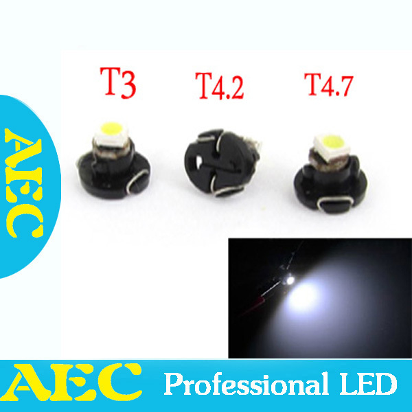 100X T3 T4.2 T4.7 1 SMD 1210 3528 LED 1SMD B8.5D Car Interior Dashboard Light Bulbs LED Auto LED Car Lights Green