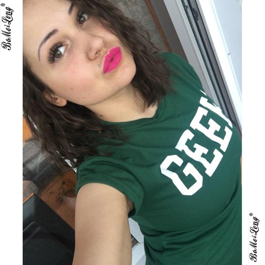 Friki verano Impresión de la Letra Camiseta de Las Nuevas Mujeres Del O-cuello O