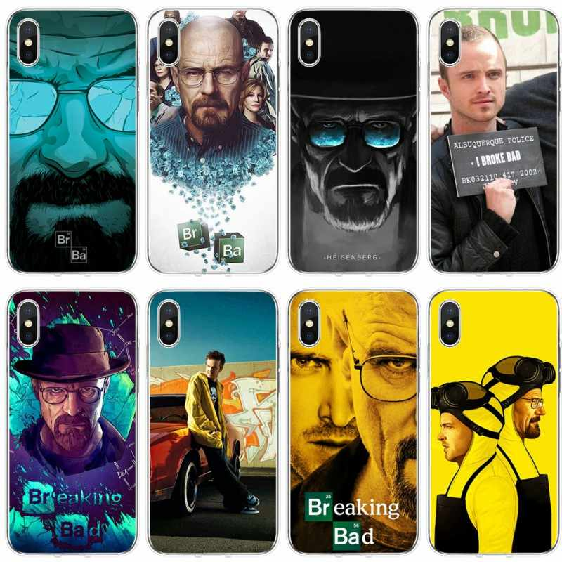 Breaking Bad Chemistry Walter Cover Soft Silicone Phone Case For iPhone 6 6plus 7 8plus 5 5S 5C SE For iPhone X XS XR XS Max