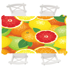 Colorful Fruit Round Tablecloth Restaurant Hotel Rectangular Wedding Waterproof Table Cover 145x145,140x180,140x220cm