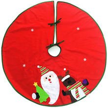 10 pcs / lot 90cm christmas tree skirt aprons Surround Merry Christmas Santa Claus & Elk Design Deluxe Ornaments Xmas Party gift