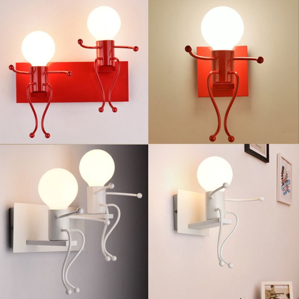 Modern Design Children Bedroom Wall Lamp Unique Appearance LED Night Light Bedside Desk Reading Light Lamp Light