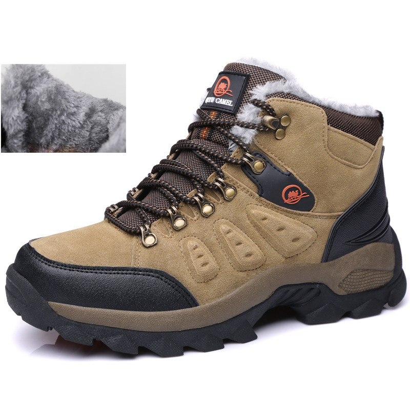 f9fa7cdf6390 Detail Feedback Questions about New mens hiking outdoor shoes snow boots  winter brand anti skid mountain climbing boots breathable outdoor hiking  shoes ...