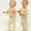 Top Quality Pure Nature Organic Cotton Baby Trousers for Infant 0-18 Months