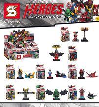SY295 Super Heroes Avengers Minifigures Harley Quinn/Red Arrow/Iron Man/Batman 8pcs/lot Building Blocks Sets Model Bricks Toys