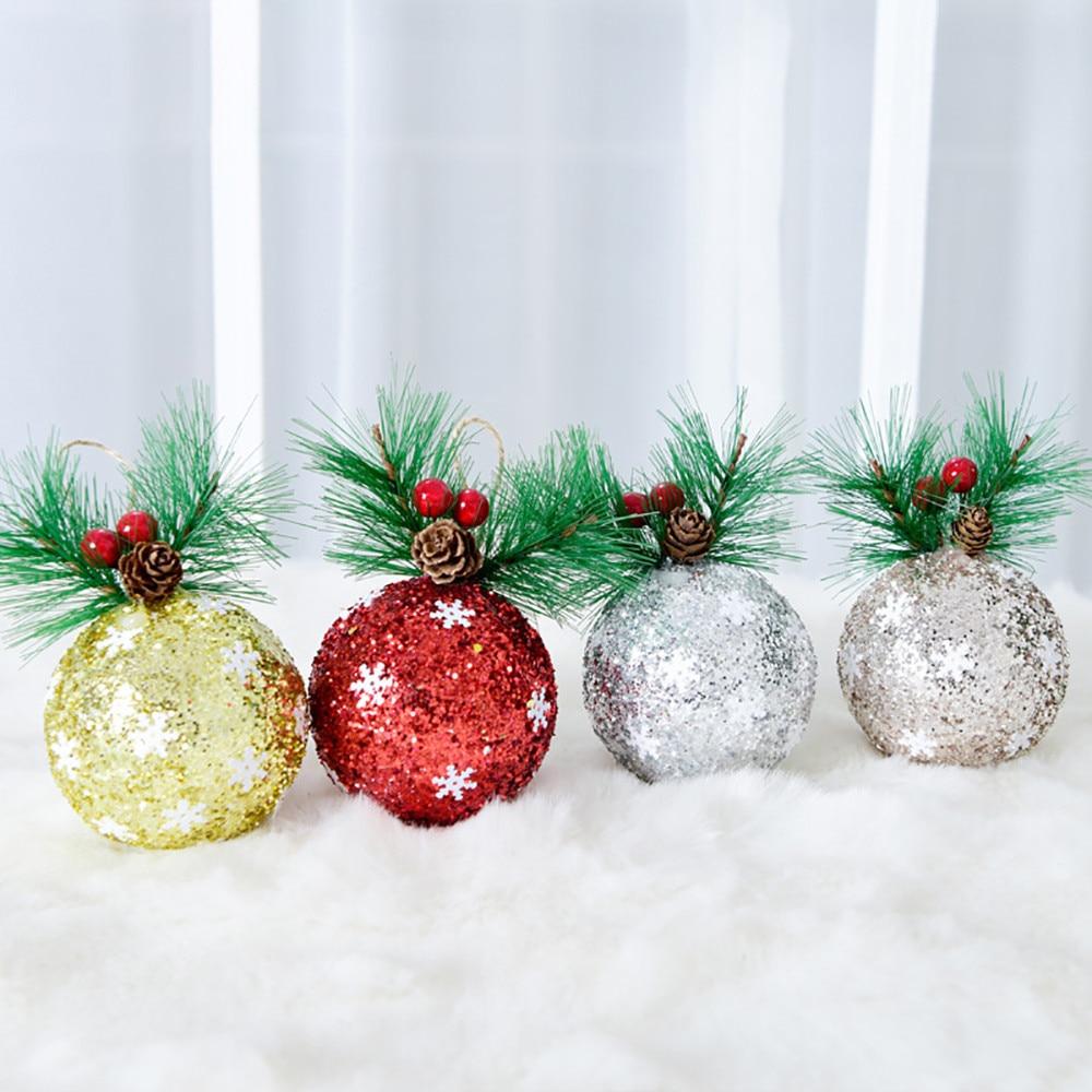 Natale Lino Palle Gancio Palline Di Natale Albero Di Natale Appeso Ornamento Partito Decor