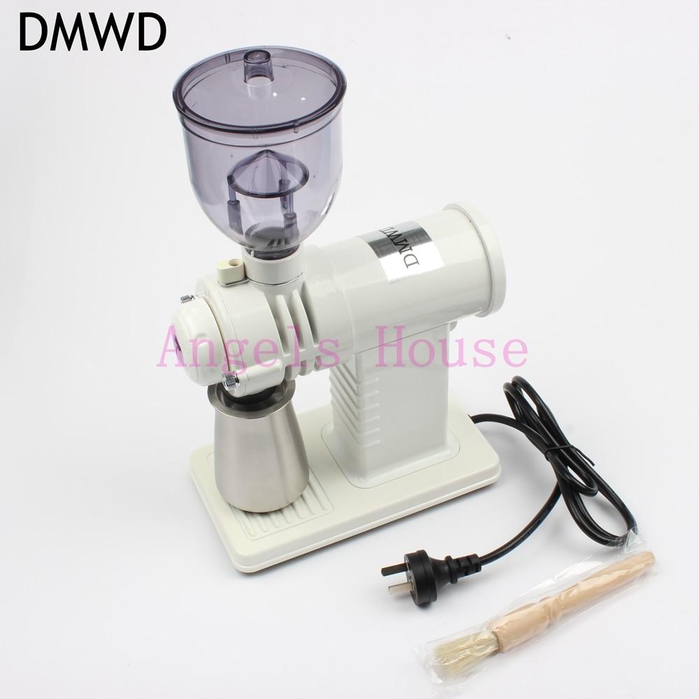 DMWD household electric Coffee Grinders fancy shape 10 files adjustable coffee bean crusher big power ботинки grinders stag киев